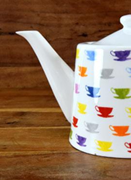 Schöne Teekannen