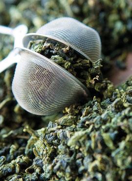 Grüner Tee am Morgen