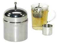 TEA MESH BALL WITH DRIP HOLDER