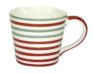MUG CIRCLES RED+GREY 6