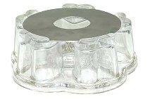 GLAS WARMER WITH METAL RING