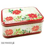 COOKIE TIN POINSETTIE 12