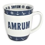 MUG AMRUM BLUE-WHITE
