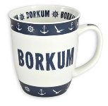 MUG BORKUM BLUE-WHITE