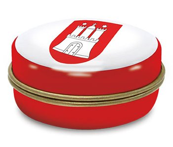 PILL BOX TIN HAMBURG WAPPEN