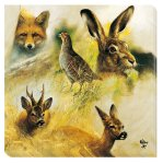 SERVIETTE WILD ANIMALS COLLAGE