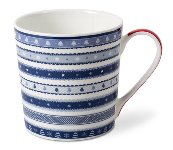 MUG CHRISTMAS RIBBON/ BLUE