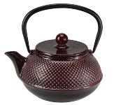 CAST IRON TEAPOT 0.8L RED