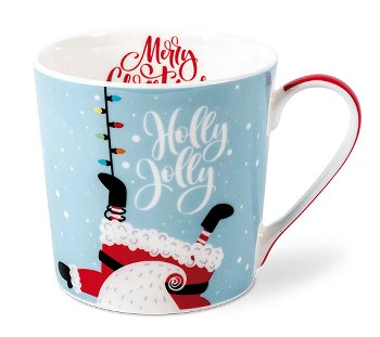 MUG HOLLY JOLLY / SANTA