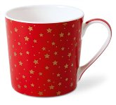 BECHER ROT-GOLD STERNE ROT
