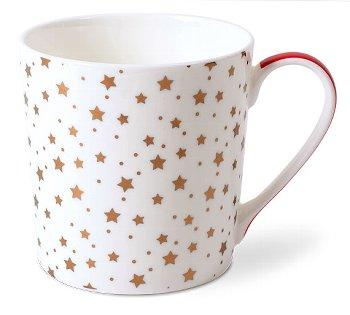 MUG RED-GOLD/ STARS WHITE