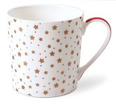 MUG RED-GOLD/ STARS WHITE
