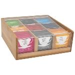 Bambus Tee Box / 9 Fächer
