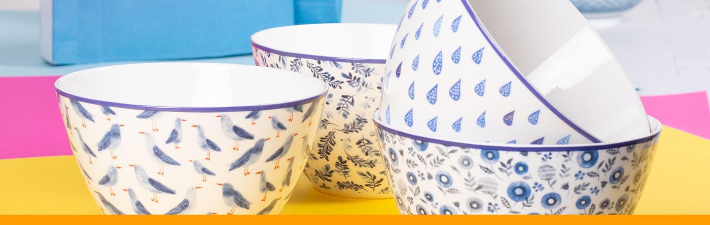 Tee Schalen Teller und Schüsseln