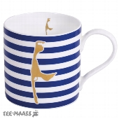BECHER SYLT GOLD / BLAU