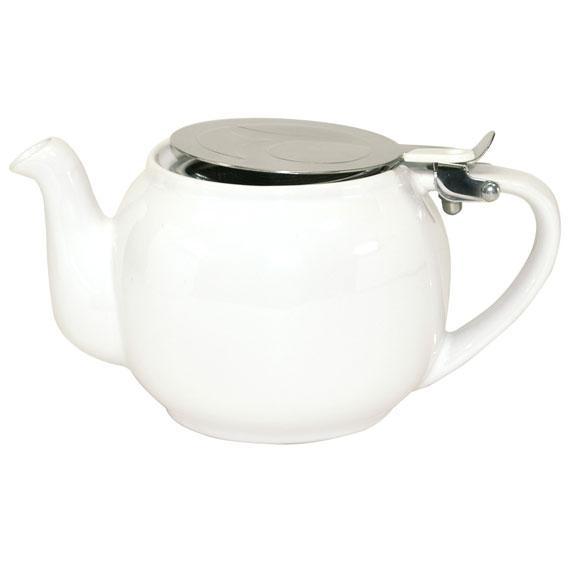 Weiße Teekanne maass zubehör geschirr kannen weisse keramik teekanne