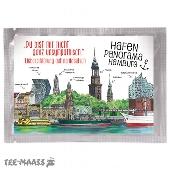 TEE-POSTKARTE HAMBURG HAFEN