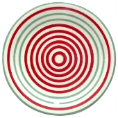"TELLER ""CIRCLES"" RED+GREY"