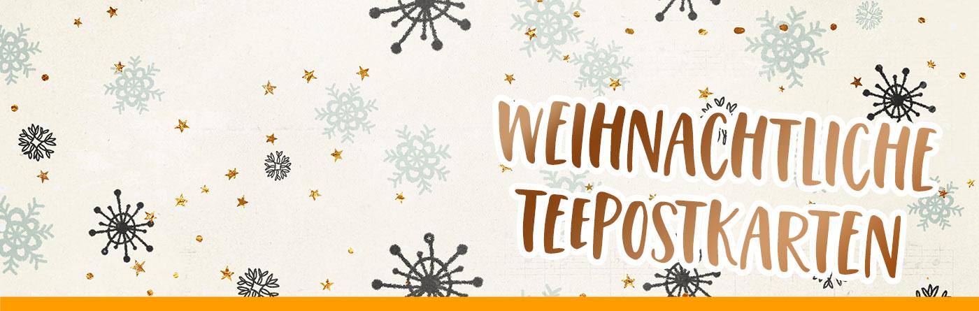 TEE-MAASS Weihnachtliche Teepostkarten